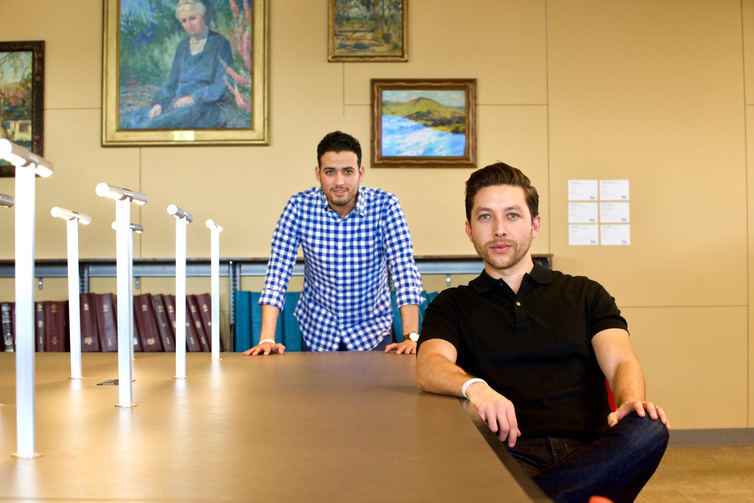 Abraham Arechiga and Alvaro Sanchez Diaz serve as the creators of Spanish55, an online language learning course.
