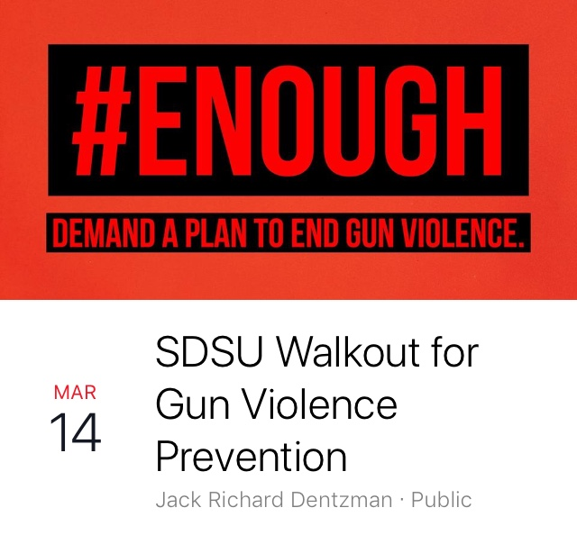 A screenshot of the Facebook event for Wednesday's gun violence walkout event.