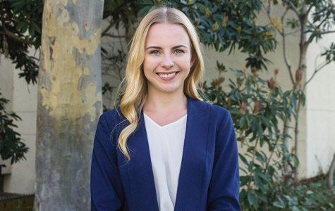 A.S. vice president of university affairs candidate Anya Shutovska