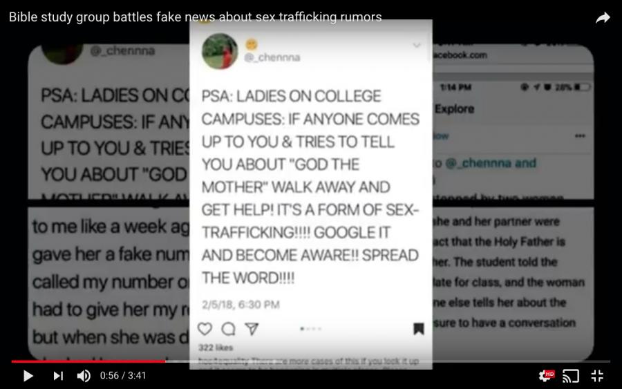 Bible study group battles fake news about sex trafficking rumors