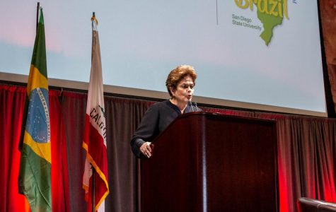 Controversial Brazilian ex-president visits San Diego State as part of international tour