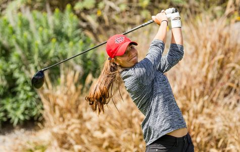 Senior Mila Chaves competes during the March Mayhem Tournament at the Farms Golf Club in Rancho Santa Fe, California on March 26.