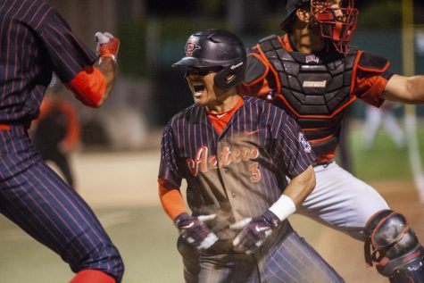 Aztecs remain undefeated with victory over Rebels