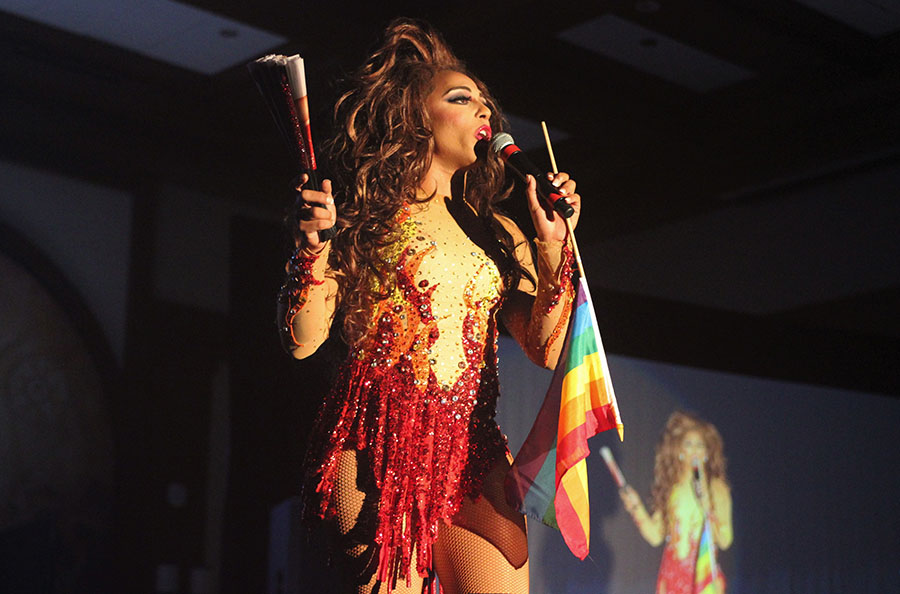"Two-time ""RuPaul's Drag Race"" contestant Shangela co-hosted the Dragstravaganza Aztec Night held in September 2017."