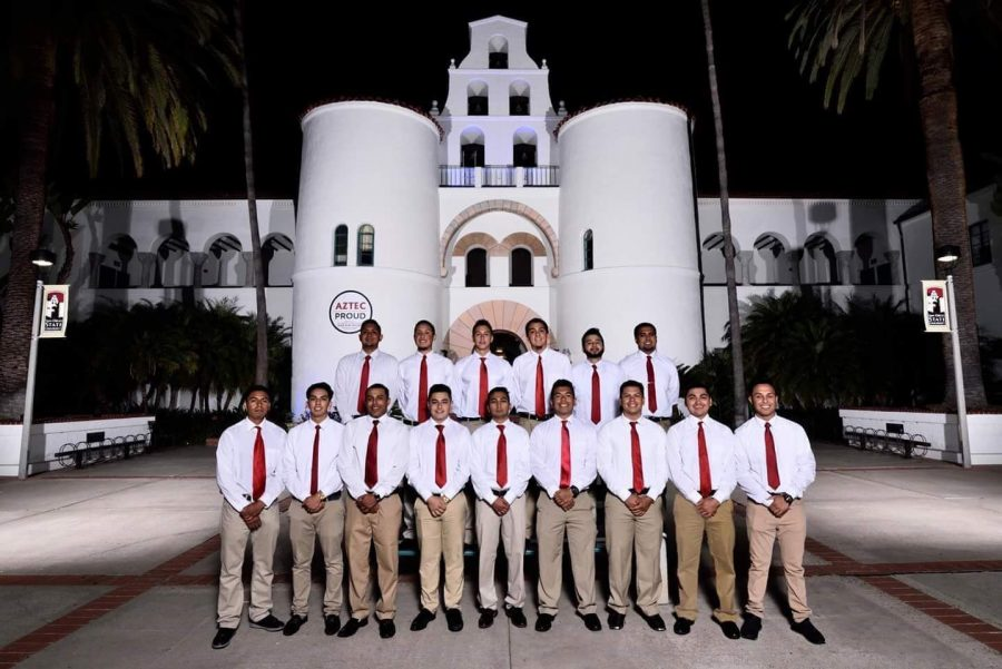 Photo of SDSU's chapter of Nu Alpha Kappa, a Latino-based organization on campus.