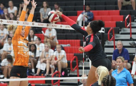 SDSU drops final three sets in loss to Oregon State
