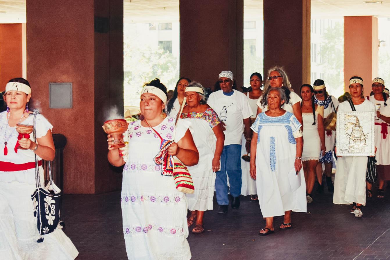 """El""""llanto colectivo"""" fue un acto hecho por el Centro Maestras como acto de solidaridad a las familias separadas."""