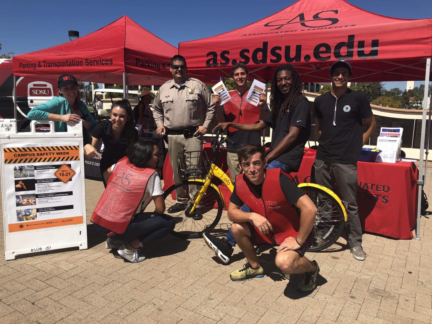 SDSU students gathered with SDSUPD and Associated Students for Campus Safety Week from Sept. 18 to 21.