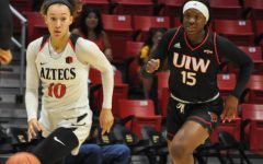 Aztecs make easy work of Incarnate World in 81-38 rout