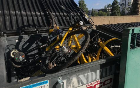 Ofo bikes are often found damaged around campus, something Associated Students Sustainability Commissioner Cassie Weinberg said has contributed to the end of the university's partnership with the company.