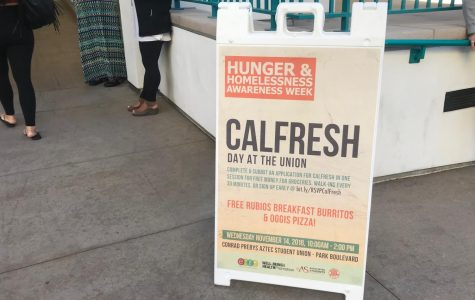 Students had the opportunity to enroll for CalFresh in the student union as part of a Nov. 14 event.