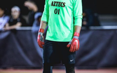 Senior goalkeeper coming up clutch for the Aztecs