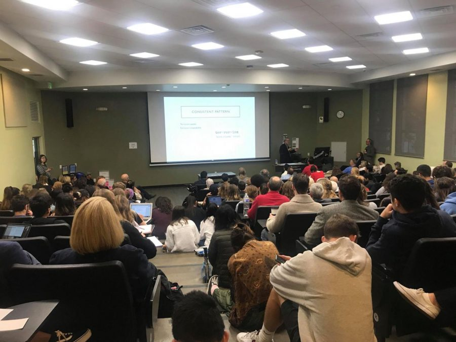 The Nov. 28 Three Perspectives on Pittsburgh event attracted so many attendees that it had to be relocated from its initial location directly prior to its start.
