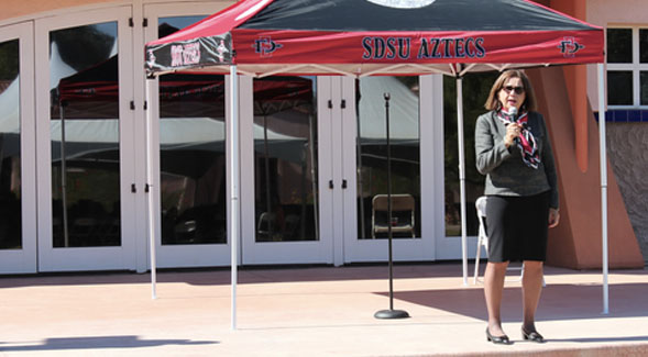 President Adela de la Torre visited SDSU's Imperial Valley campus in late November as part of her