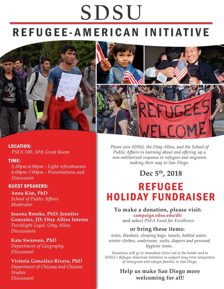 The Refugee Holiday Fundraiser will take place on Wednesday, Dec. 5 from 5 to 7:30 p.m.