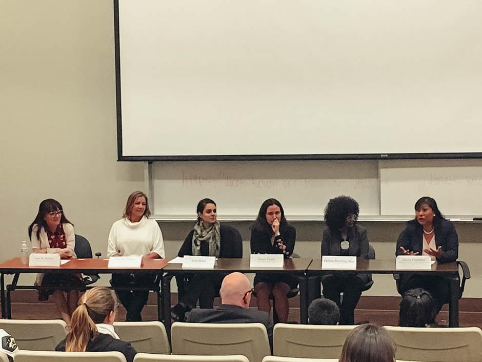 Daisy Galeana, Lida Raifa, Sara R. Roldan, Debra Sterling Roy, Irene Tassie and Tabitha Burke made up the Women in Leadership panel on Nov. 30.