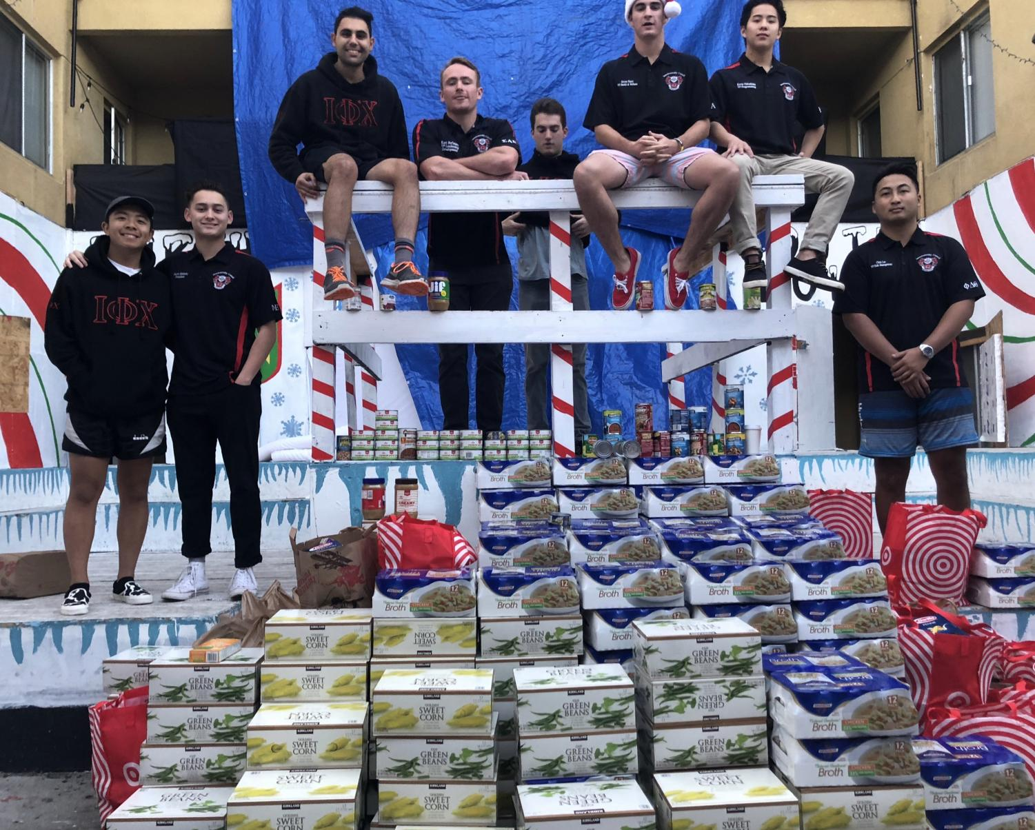 Interfraternity Council members donated 3,266 pounds of food to Jacobs and Cushman San Diego Food Bank at the end of the fall semester.