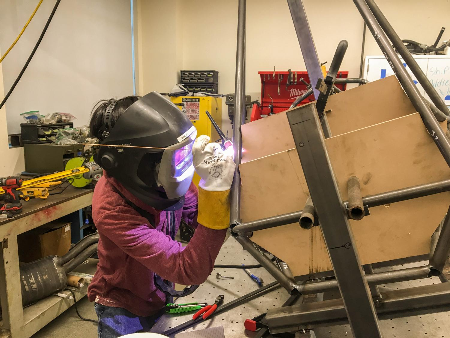 The Aztec Racing club continues working on project thanks to funds raised through GoFundMe.