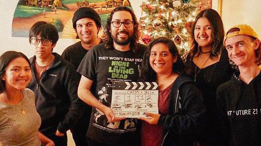 El equipo de producción graba cortometraje de Chips and Salsa para premios de AT&T.