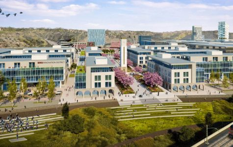 Rendering of the SDSU Innovation District in Mission Valley.