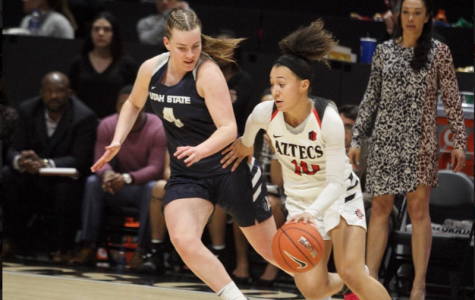 Women's basketball fails to end skid with 65-52 loss to Utah State
