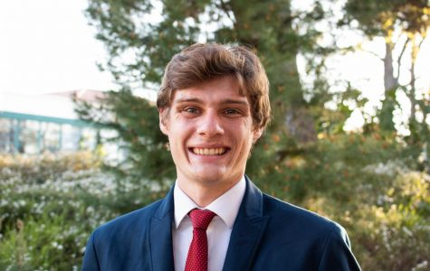 A.S. vice president of financial affairs candidate Dustin Adkins