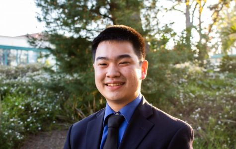 A.S. vice president of university affairs candidate Winston Liew