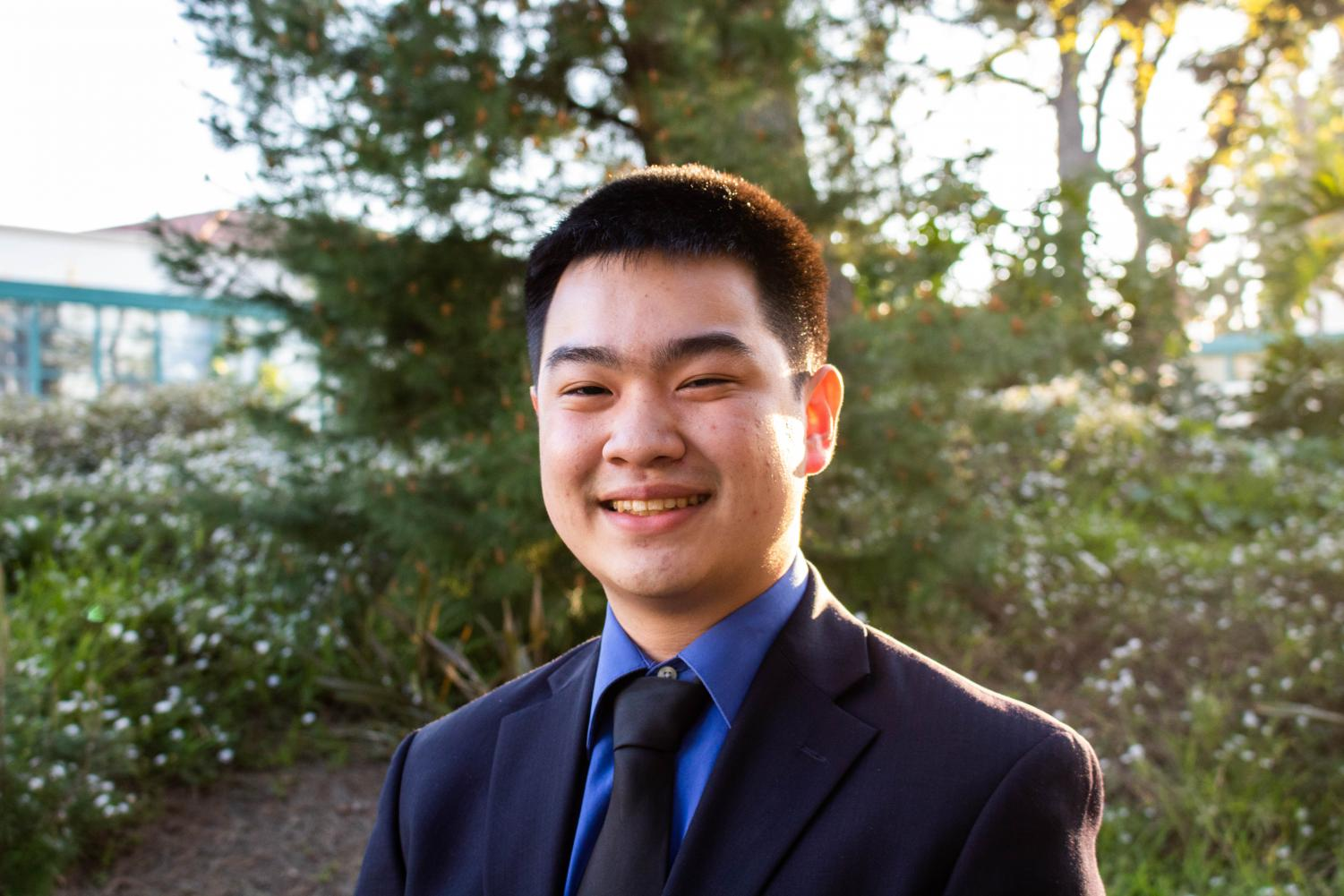 A.S. vice president of university affairs candidate Winston Liew.