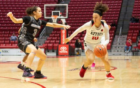 Aztecs defeat Nevada, 64-61, in nailbiter on Senior Night
