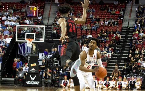 Aztecs overcome poor shooting to escape with 63-55 win over UNLV, advance to semis of MWC Tournament