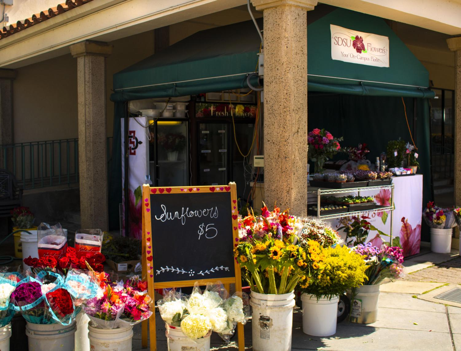The campus flower stand has transitioned ownership to become SDSU Flowers.