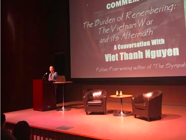 Author Viet Thanh Nguyen visited SDSU on April 30 to talk about his book,