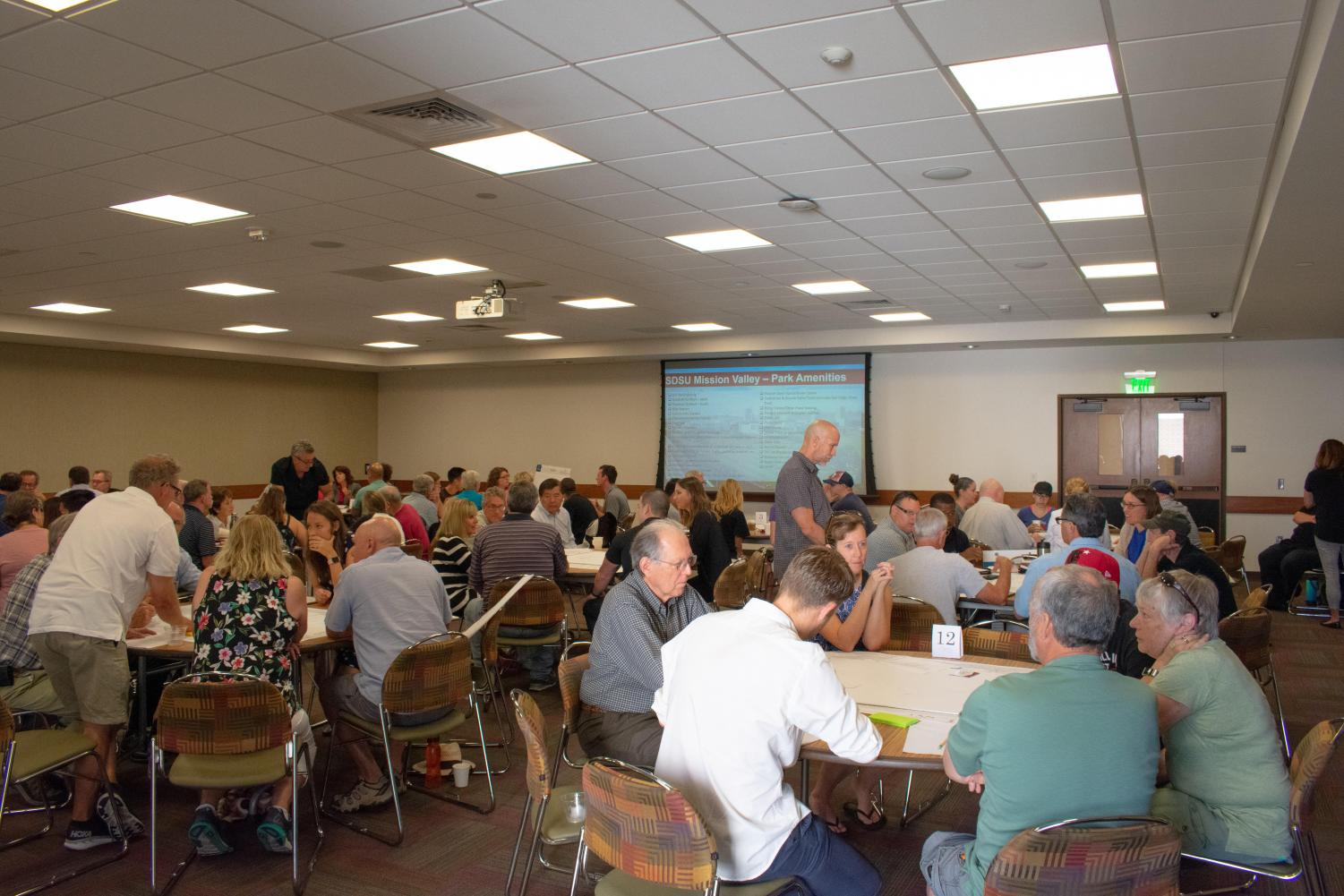 Workshop attendees provided feedback for a proposed river park at SDSU Mission Valley.