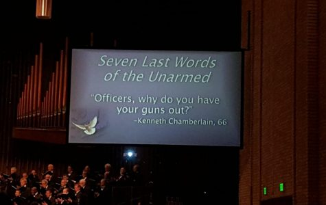 Powerful orchestra concert pairs last words with music