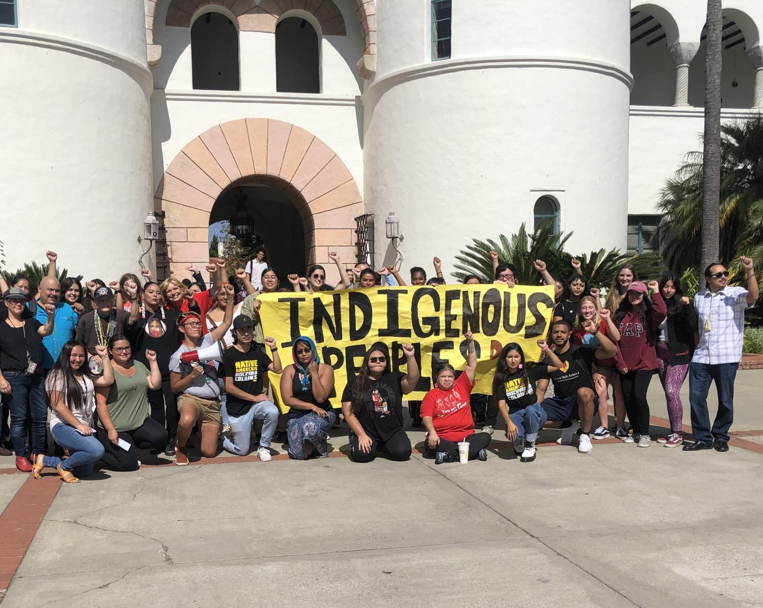 Native American Student Alliance organized a rally to recognize Indigenous People's Day.