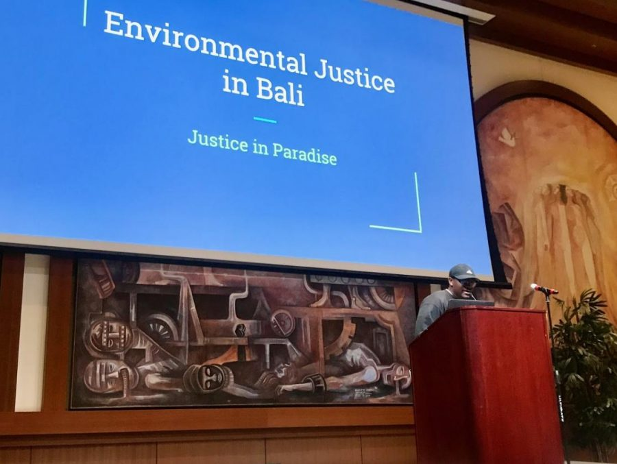 Environmental+science+senior+Christopher+Davis+discusses+environmental+justice+and+his+experience+studying+abroad+in+Bali.