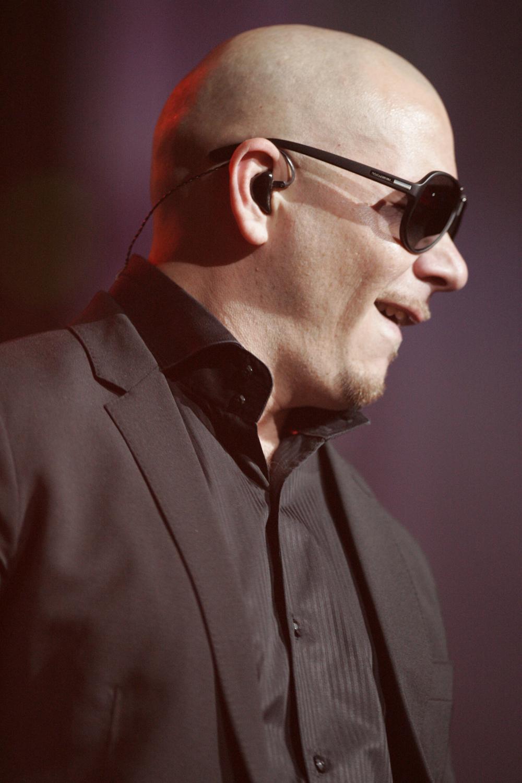 Pitbull at a concert.