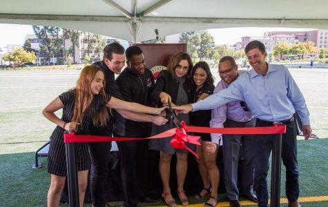 SDSU administrators, A.S. officials dedicate renovated ENS field