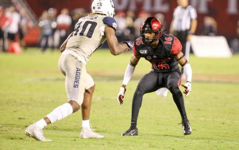Barcoo's three interceptions, Smith's two touchdowns highlight Aztecs' win over Colorado State