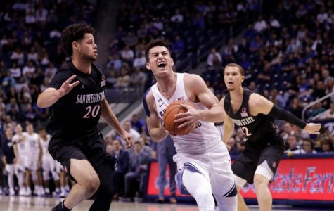 Schakel's career day helps Aztecs notch first win at BYU since 2005