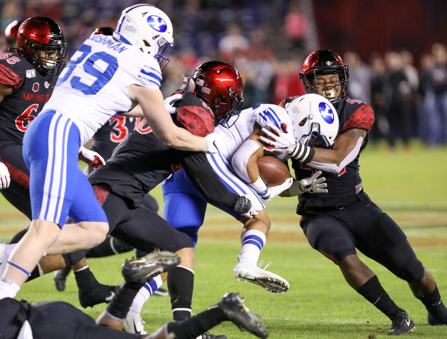 BYU came into the game averaging 42.7 points in its last four games. San Diego State's defense held the Cougars to three points during the Aztecs' 13-3 victory on Nov. 30 at SDCCU Stadium.