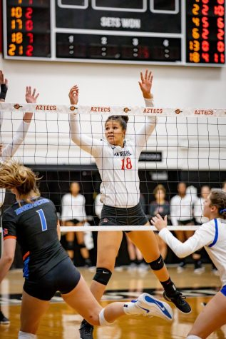 Volleyball, after dropping first two sets, stuns West Virginia in 3-2 comeback victory