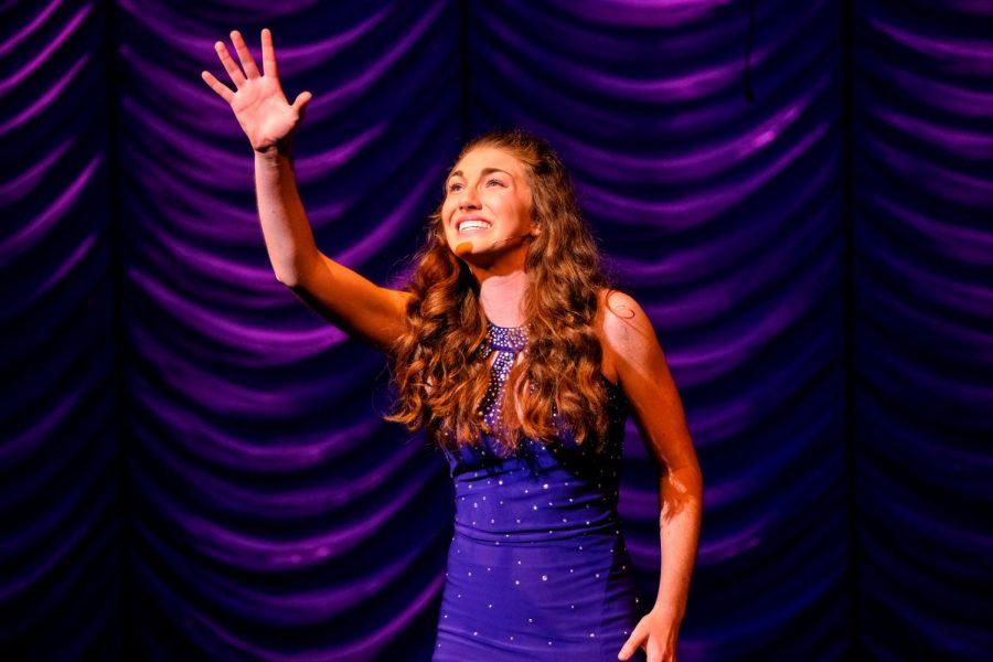 Vadeboncoeur performing onstage in her element.