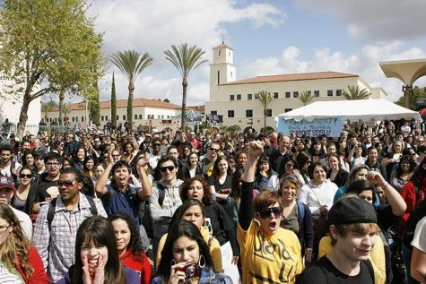 Students, faculty members, teachers, parents and other supporters took to California campuses and streets March 2010 to protest fee increases and funding cuts.