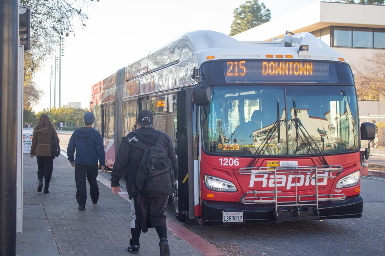 Rapid 215 currently connects SDSU and downtown using El Cajon Boulevard.