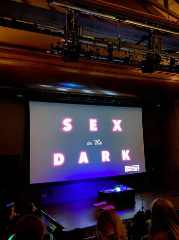 Sex in the Dark was an event in the Aztec Student Union for all genders and sexualities.