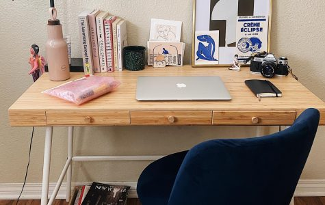 This is an example of an organized and creative workspace you can do at your own residence.