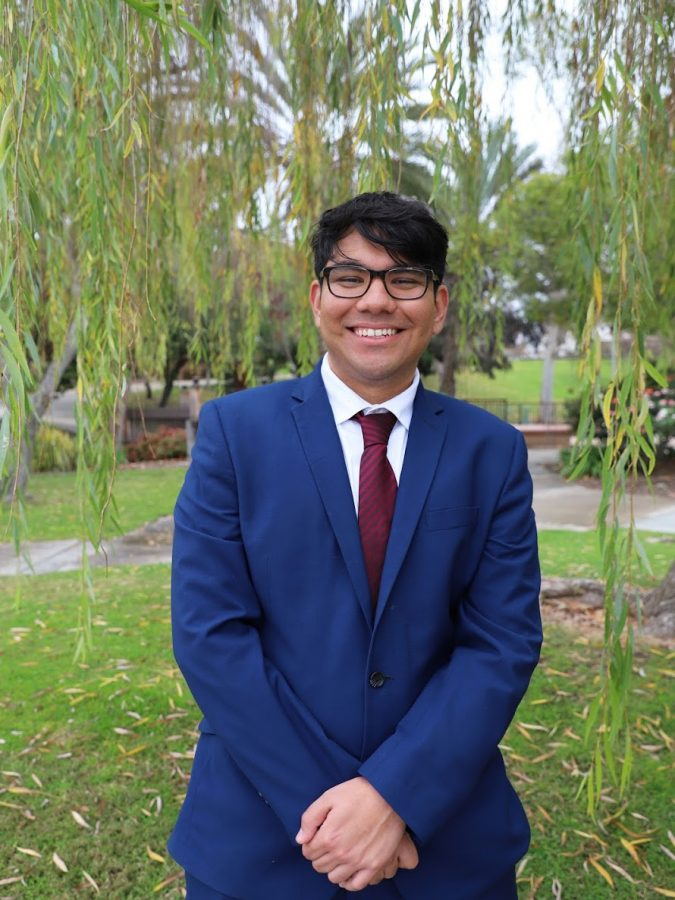 A.S. vice president of external relations candidate Armando Sepulveda II