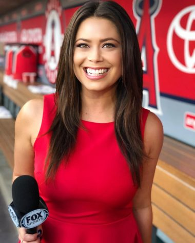 SDSU alumna Alexa Curry currently works as the Los Angeles Angels