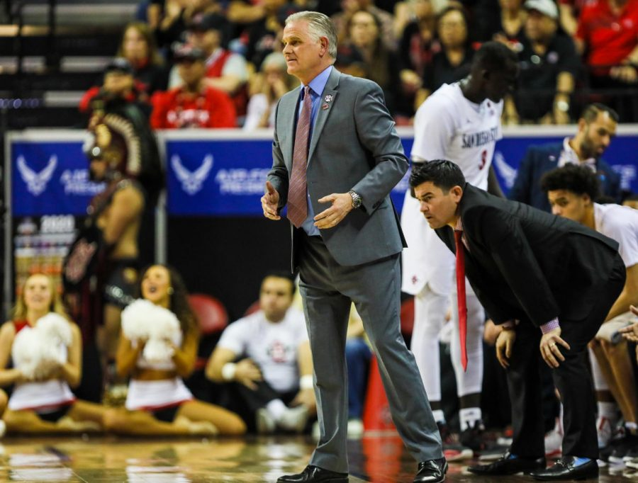 Aztecs+head+coach+Brian+Dutcher+picks+up+commitment+from+another+grad+transfer+guard+for+the+second+year+in+a+row.+Last+year%2C+it+was+KJ+Feagin.+